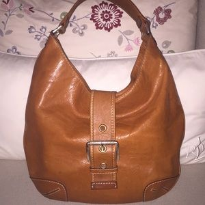 Authentic Michael Kors Hobo Smooth Tan Leather